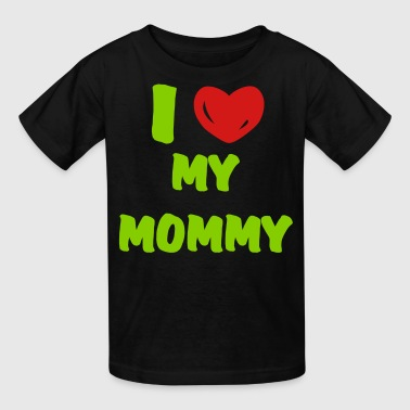 i heart mommy (vector) - Kids' T-Shirt