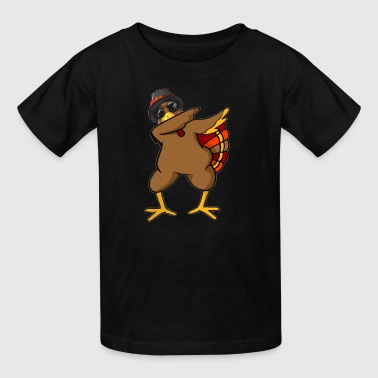 Funny Dabbing Turkey Thanksgiving T Shirt Outfit - Kids' T-Shirt
