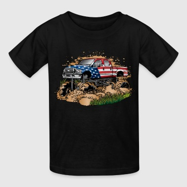 Mega Mud Truck USA - Kids' T-Shirt