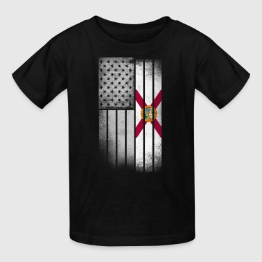 Florida Flag Shirt - Florida American Flag Fusion - Kids' T-Shirt