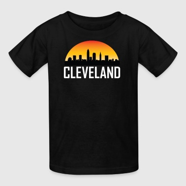 Sunset Skyline Silhouette of Cleveland OH - Kids' T-Shirt