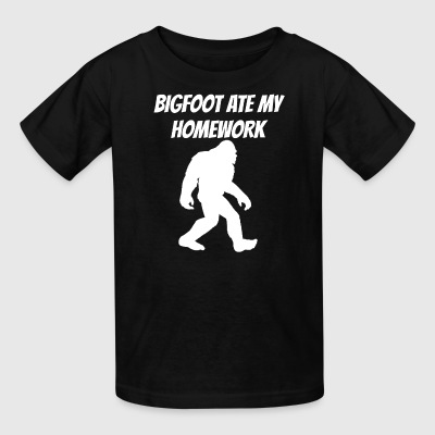 Bigfoot Ate My Homework - Kids' T-Shirt