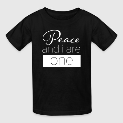 Peace and I are one. - Kids' T-Shirt