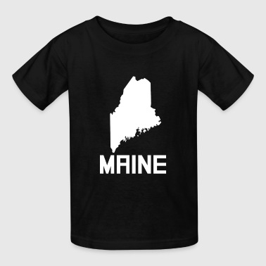 Maine State Silhouette - Kids' T-Shirt