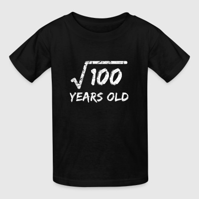 Square Root of 100 10 yrs years old 10th birthday - Kids' T-Shirt