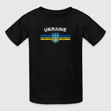 Ukrainian Flag Shirt - Ukrainian Emblem & Ukraine - Kids' T-Shirt