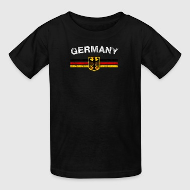 German Flag Shirt - German Emblem & Germany Flag S - Kids' T-Shirt