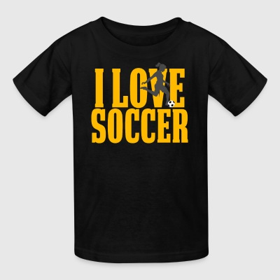 Cool Soccer Gift For Girls I Love Soccer - Kids' T-Shirt