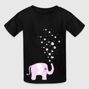 Cute Pink Elephant cartoon - Kids' T-Shirt