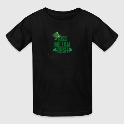 Kiss me i am irish saint patrick tshirt - Kids' T-Shirt