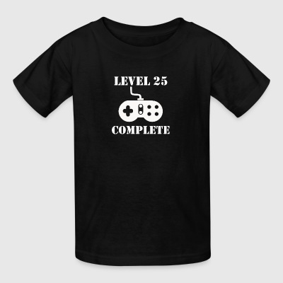 Level 25 Complete 25th Birthday - Kids' T-Shirt