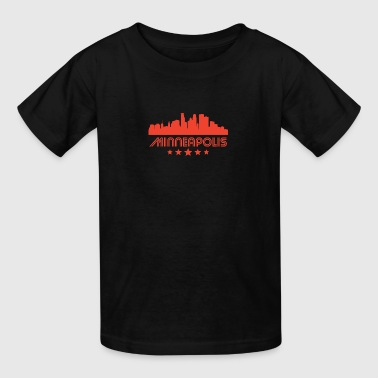 Retro Minneapolis Skyline - Kids' T-Shirt