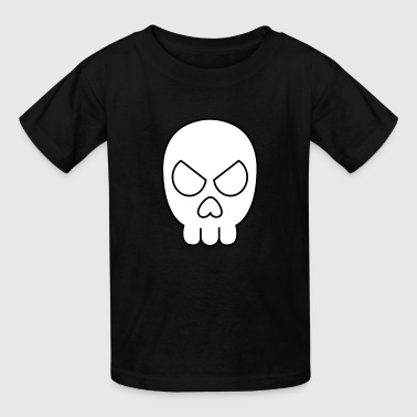 Jimbo Jones' Skull Shirt (Black & White) - Kids' T-Shirt