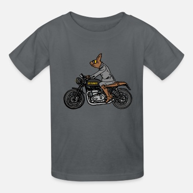 Cool-cute-stylish-mustaches FURPSTER MOTORCYCLE - Kids' T-Shirt