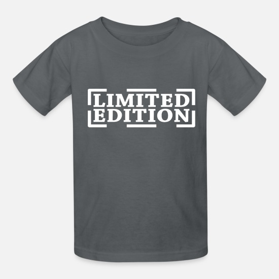 Gift Idea T-Shirts - Limited Edition Ltd. Edition Limited Special Gift - Kids' T-Shirt charcoal