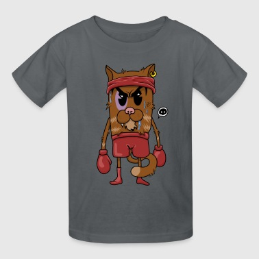 Comics Glove Boxing Cat - Kids' T-Shirt