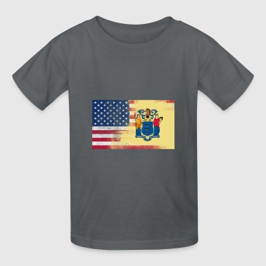 New Jersey American Flag Fusion - Kids' T-Shirt