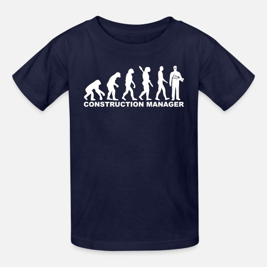 Evolution T-Shirts - Construction manager - Kids' T-Shirt navy