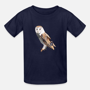 Owl Polygon Owl for Owl Lovers - Kids' T-Shirt