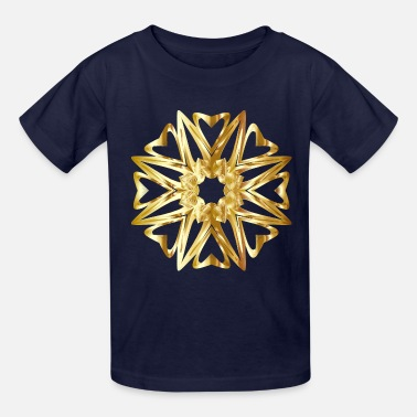 Flecked Prismatic Star Line Art 6 Variation 3 No Backgrou - Kids' T-Shirt
