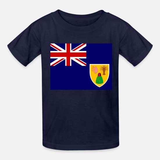 Islands T-Shirts - Turks and Caicos Islands Flag - Kids' T-Shirt navy