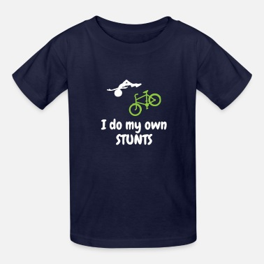 Bike I Do My Own Stunt Mountain Bike Outdoor Hobby Gift - Kids' T-Shirt