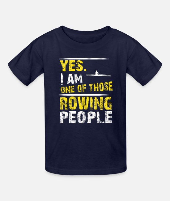 Christmas T-Shirts - One of those ROWING people - Kids' T-Shirt navy