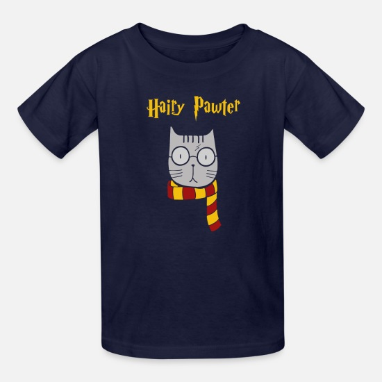 Hairy T-Shirts - HAIRY PAWTER - Kids' T-Shirt navy