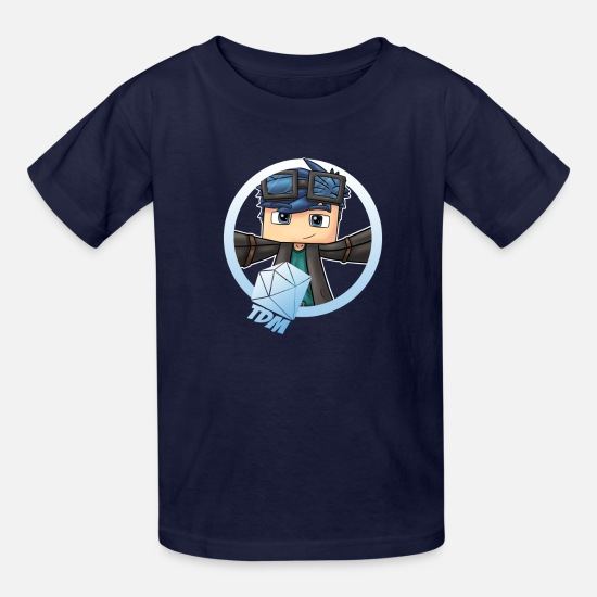 Kids T-Shirts - DanTDM Minecart The Diamond Creeper You - Kids' T-Shirt navy