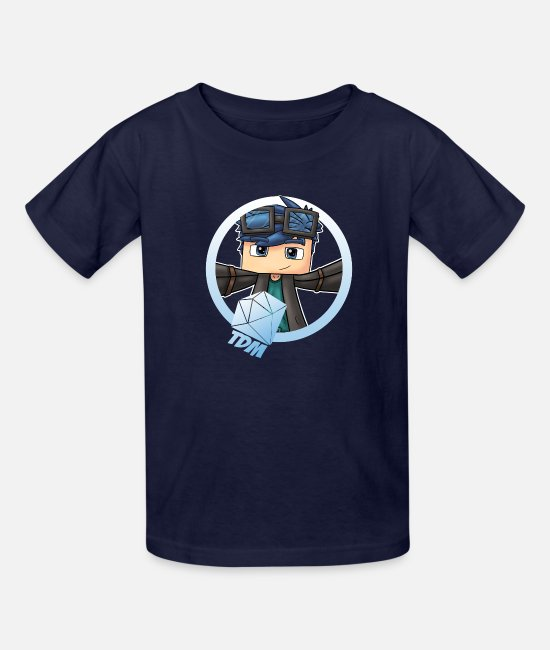 Young T-Shirts - DanTDM Minecart The Diamond Creeper You - Kids' T-Shirt navy