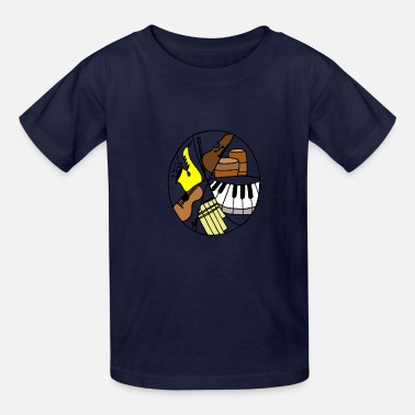 music logo color - Kids' T-Shirt