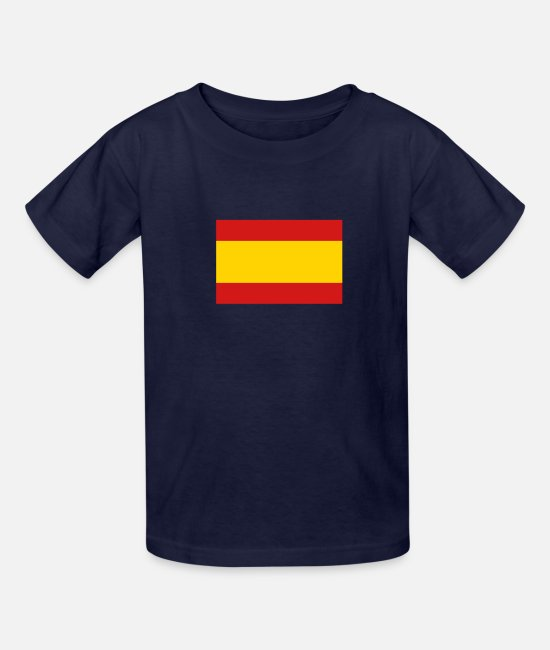 Don Quijote T-Shirts - National Flag Of Spain - Kids' T-Shirt navy