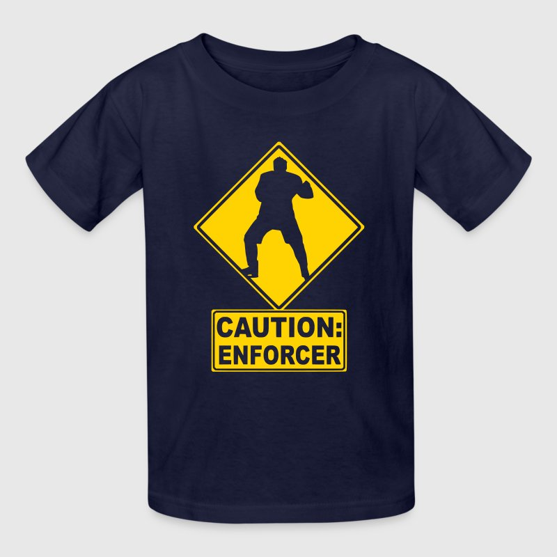 CAUTION: Hockey Enforcer - Kids' T-Shirt