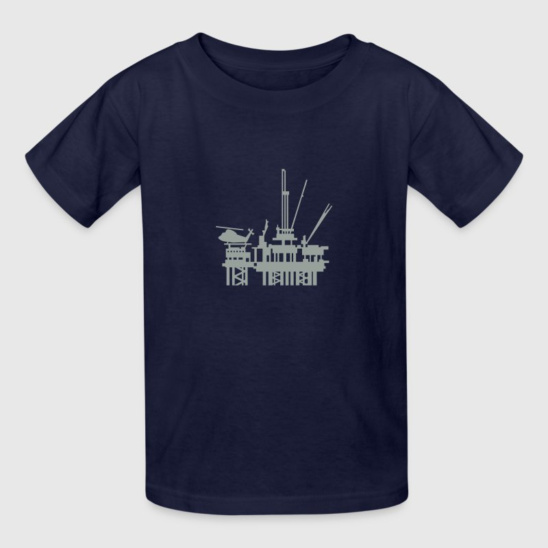 offshore oil rig (1c) - Kids' T-Shirt