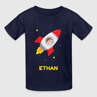 Rocket Cute Boy Astronaut - Kids' T-Shirt