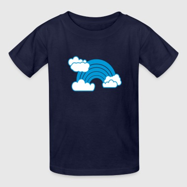Blue Clouds & Rainbow - Kids' T-Shirt