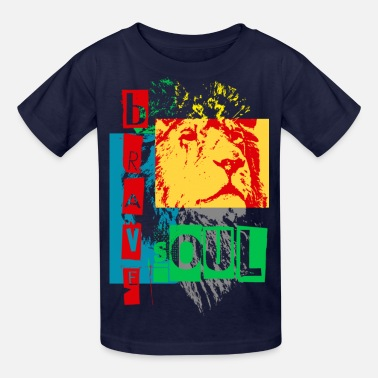 Soul Of A Lion brave soul - Kids' T-Shirt