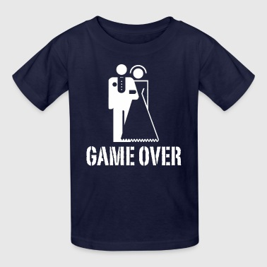 Bride And Groom Game Over Game Over Bride Groom Wedding - Kids' T-Shirt