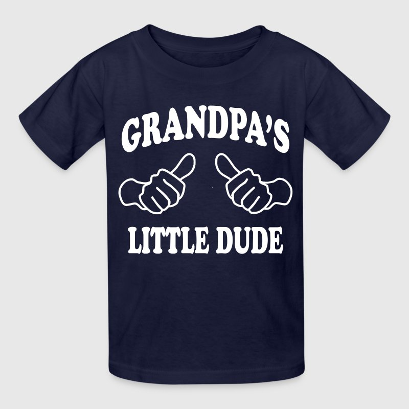 Grandpa's Little Dude - Kids' T-Shirt