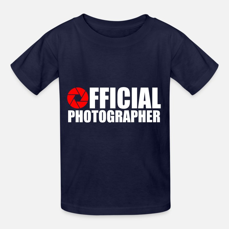 Photographer T-Shirts - OFFICAL PHOTOGRAPHER - Kids' T-Shirt navy