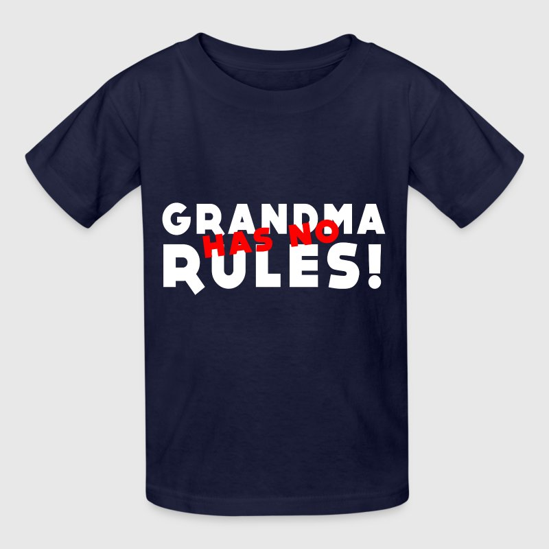 Grandma has no rules - Kids' T-Shirt