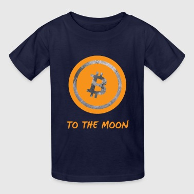 Bitcoin to the moon - Kids' T-Shirt
