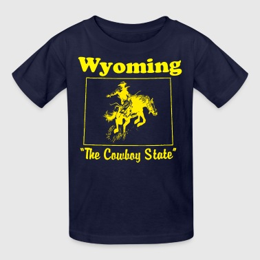 wyoming the cowboy state - Kids' T-Shirt