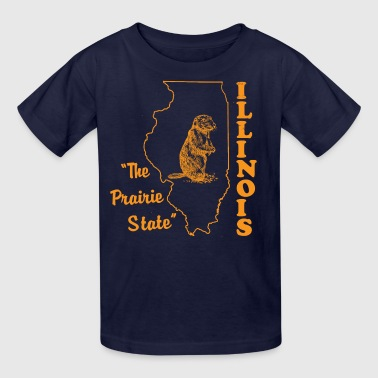 illinois, the prairie state - Kids' T-Shirt