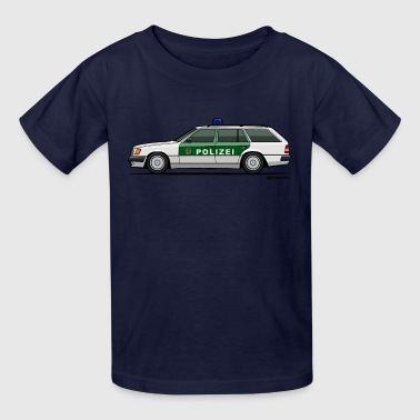 Mercedes Benz W124 300TE German Police Autobahn - Kids' T-Shirt