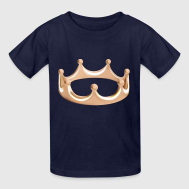 Vip monarch king gold Crown vector illustration - Kids' T-Shirt