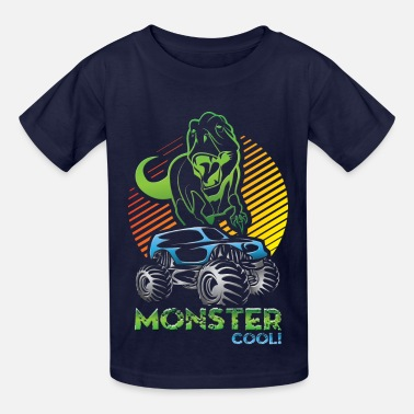 Monster Truck Dinosaur - Kids' T-Shirt