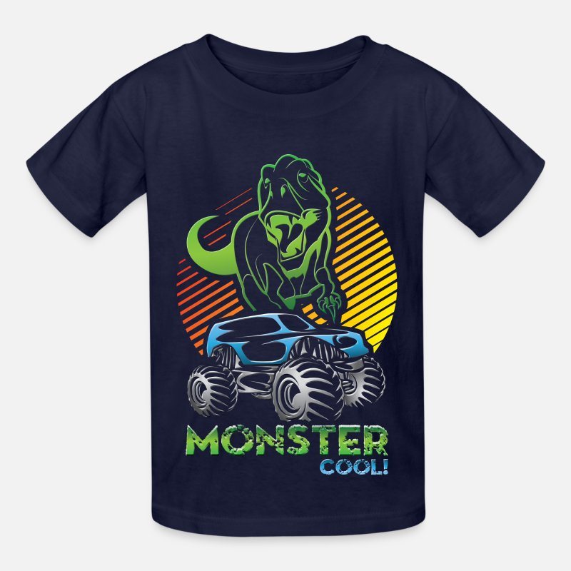 Monster T-Shirts - Monster Truck Dinosaur - Kids' T-Shirt navy