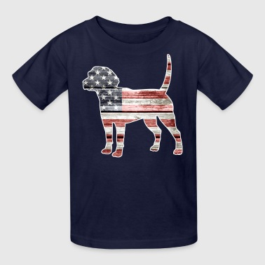 Patriotic Funny Patriotic Beagle - Kids' T-Shirt