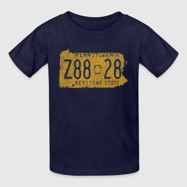 Pennsylvania State License Plate Clothing Apparel  - Kids' T-Shirt